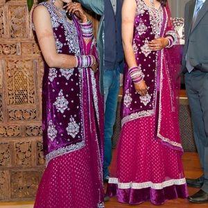 Indian/ Pakistani bridal achkan style Lehenga